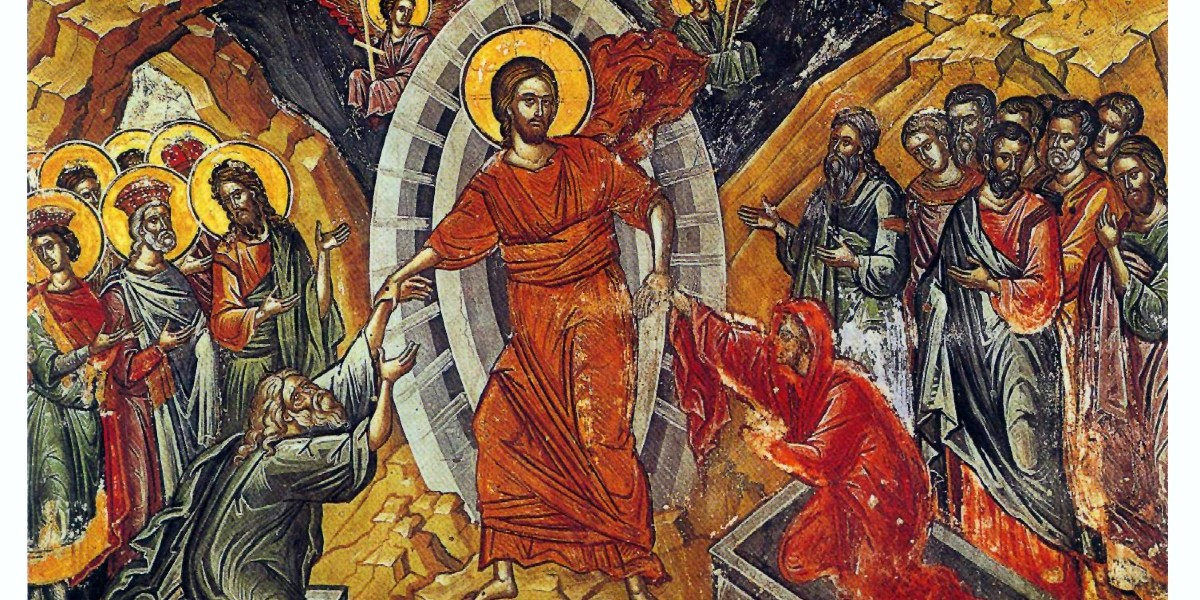 holy Saturday homily jesus descended into harrowing hell icon