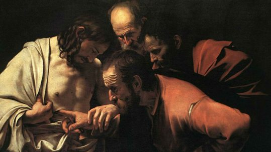 Doubting Thomas Divine Mercy Sunday faith unbelief believe Tommaso l'incredulo Divina Misericordia domenica credere fede dubitare facebook