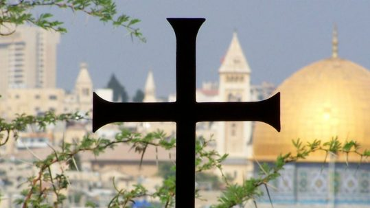 holy land pilgrimage in the footsteps of Jesus jerusalem golden dome cross facebook