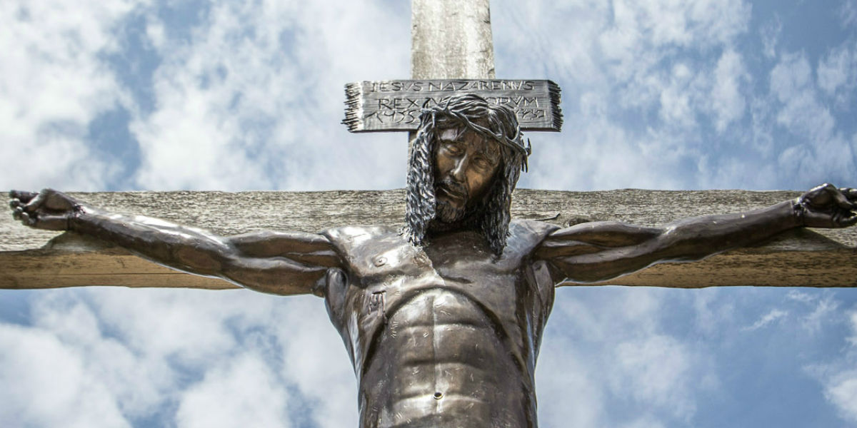 jesus on cross bronze meaning of the cross facebook