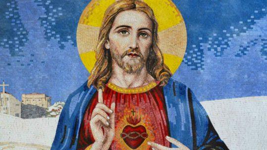 sacred heart of jesus marble mosaic facebook