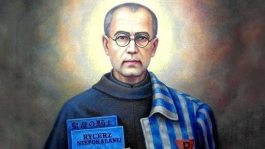 St Maximilian Kolbe Chaplain of Auschwitz martyr hero august 14 die death charity love