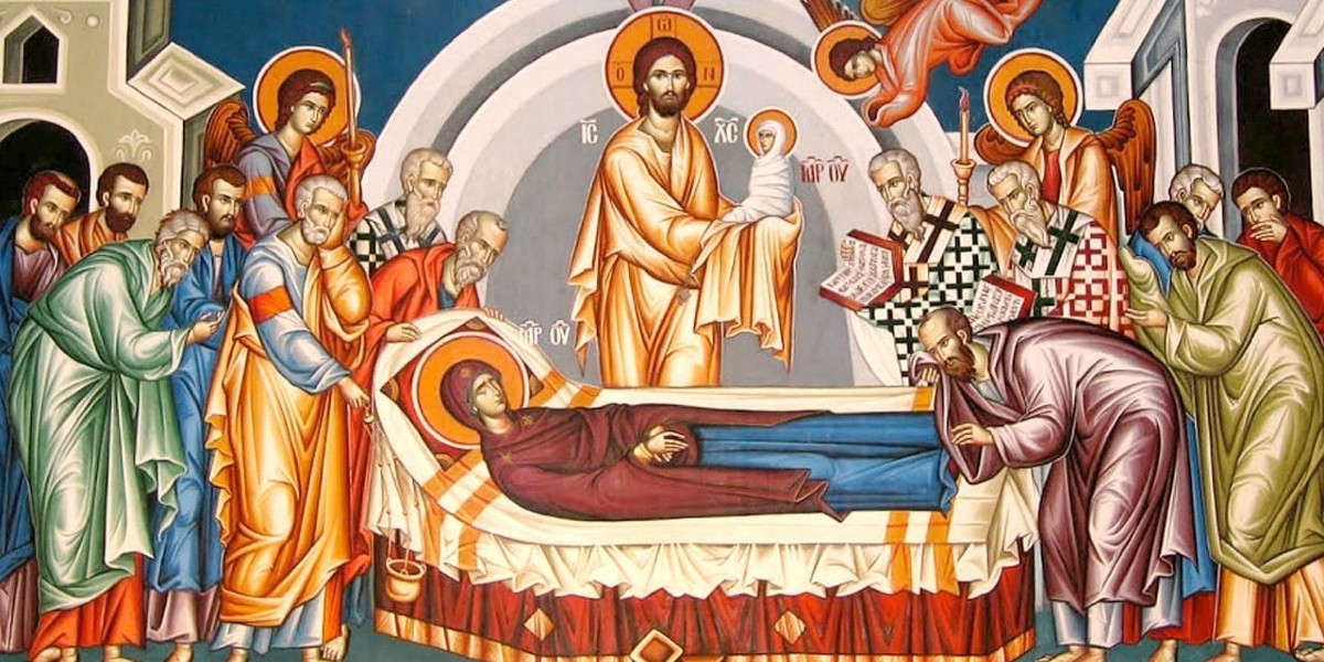 John Damascene Damascus dormition bodily assumption of Virgin Mary heaven assumed falling asleep August 15