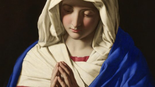 birthday nativity birth blessed virgin Mary Andrew of Crete September 8 theotokos mother of God Giovanni Battista Salvi da Sassoferrato