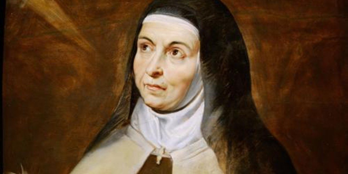 St. saint teresa avila friendship with Jesus contemplation contemplative prayer humanity Christ friend saints love October 15