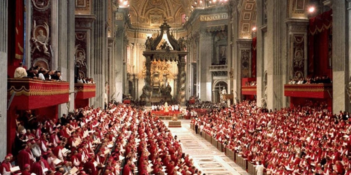 vatican II bishops in st. peters basilica