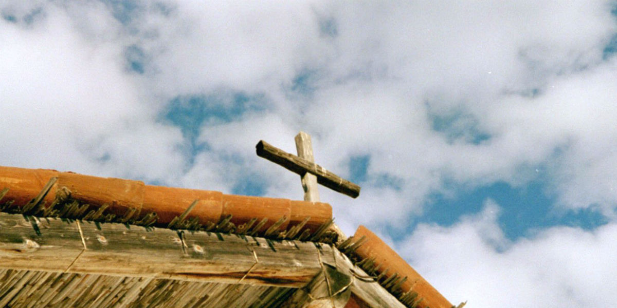 wooden cross on top of hut blue cloudy sky Satan, the Devil & the Fall of the Angels - Catechism Catholic Church