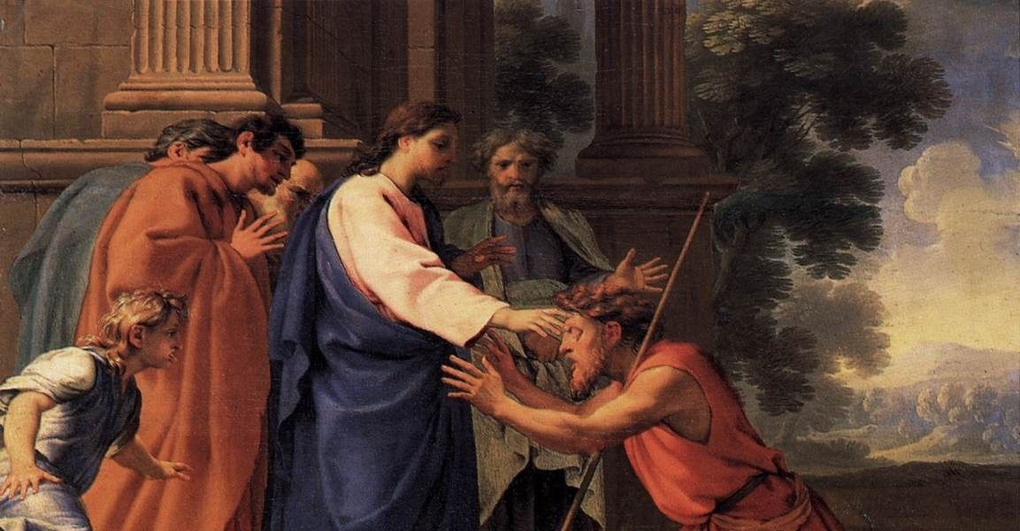 blind man born sacrament jesus heals