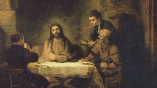 Emmaus eucharist ressurrection apostles breaking of the bread easter Christ risen Lord