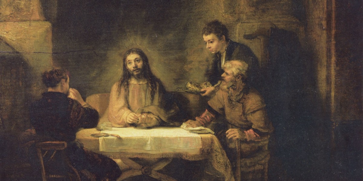 Emmaus eucharist resurrection apostles breaking of the bread easter Christ risen Lord