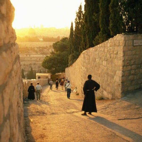 jerusalem mount of olives palm sunday road hosanna