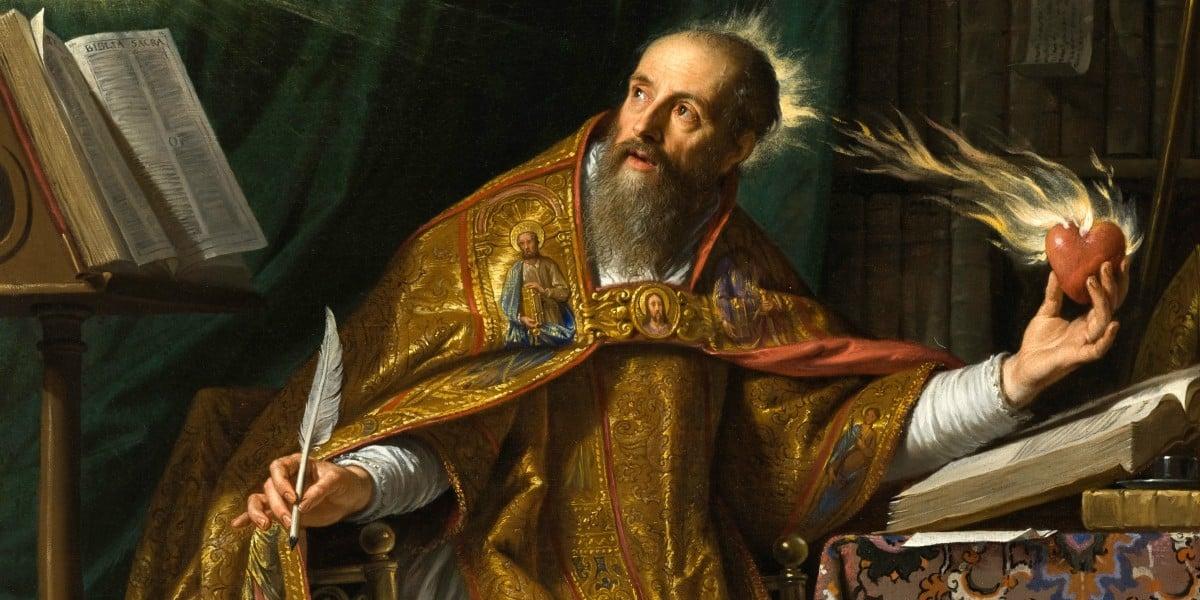 Conversion Augustine hippo confession video Dr. Italy painting Philippe de Champaigne Marcellino D'Ambrosio