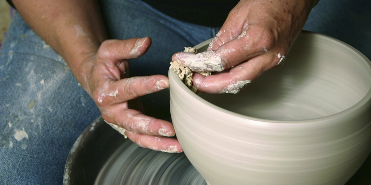 potter's hand clay wheel holy holiness be a saint not a prude spectator purity pleasures vocations called calling call 2nd Sunday Ordinary B witness