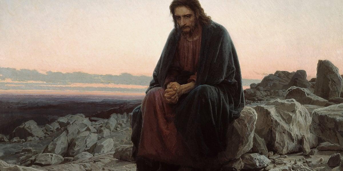 tempted by devil in desert temptation christ trials augustine body