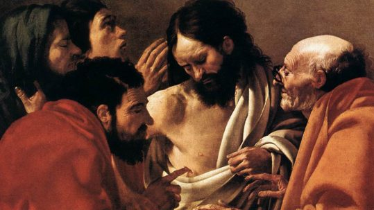 doubting thomas divine mercy sunday octave easter faith unbelief believe incredulity Hendrick ter Brugghen