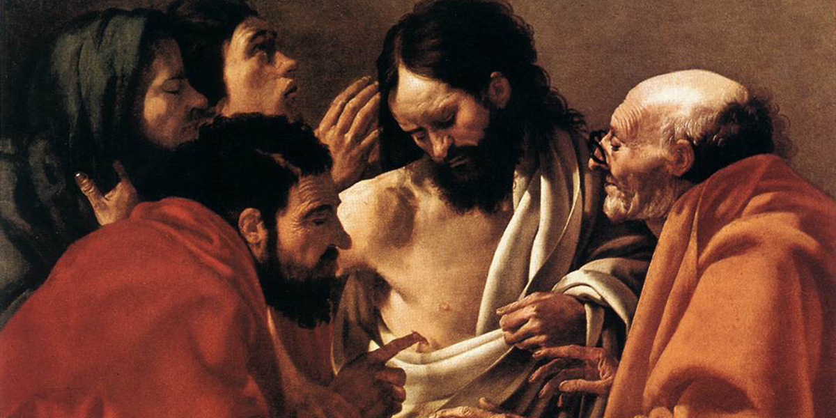 doubting thomas divine mercy sunday octave easter faith unbelief believe incredulity Hendrick ter Brugghen