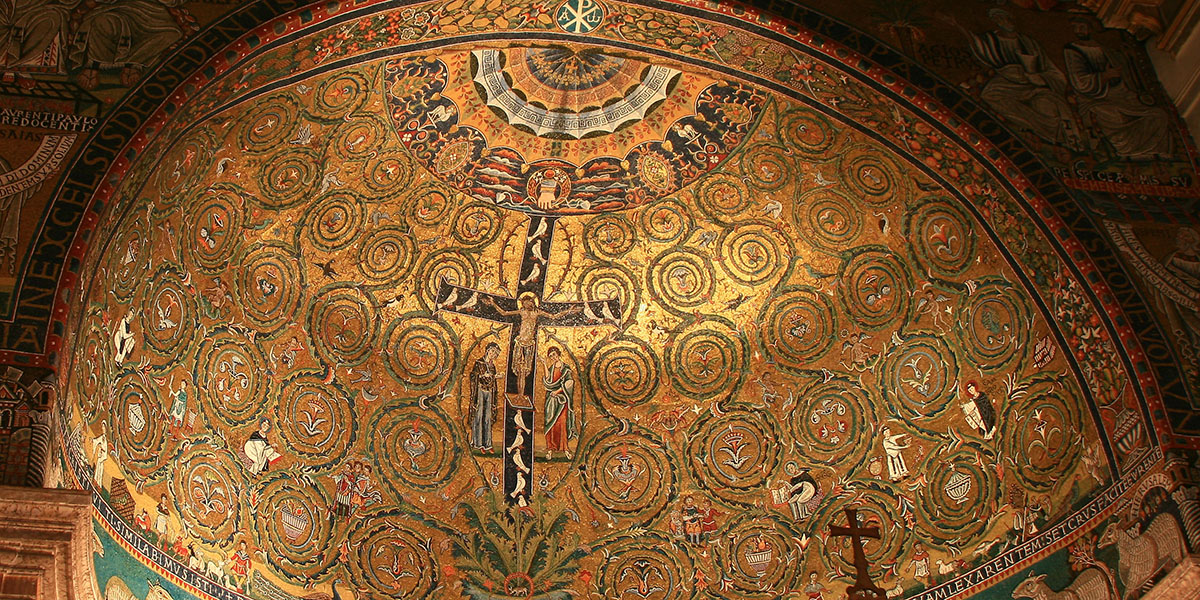 san clemente basilica apse mosaic cross tree of life clement rome